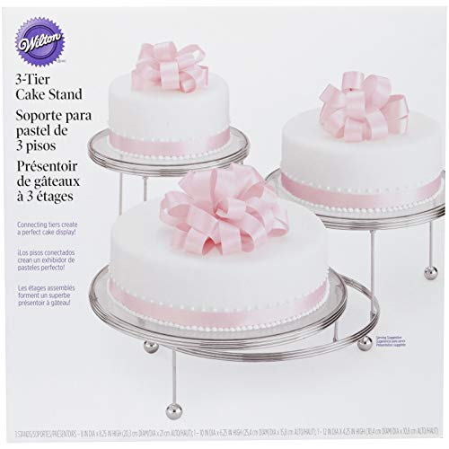 Wilton Cakes 'N More 3-Tier Cake Stand, Chrome -