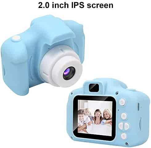 Kids Digital Video Camera for Boys Age 3-8, Mini Blue Rechargeable Children Camera Shockproof 8MP HD Toddler Cameras Child Camcorder (16G TF Card was not Included)