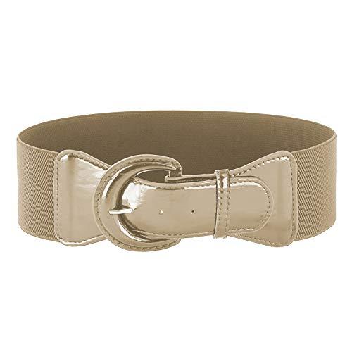 - Vintage Corsets for Women Leather Waist Belt(M,Apricot)