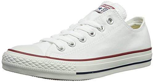 Converse Unisex Chuck Taylor All Star Low Top Optical White Sneakers - 4.5 Men/6.5 Women