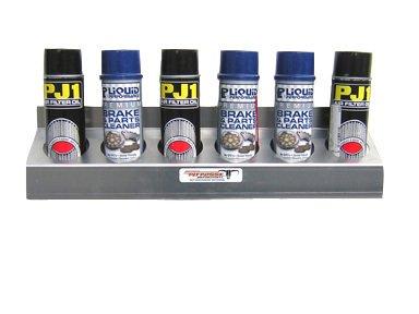Pit Posse 4 Bottle Aerosol Oil Rack Caddie Caddy Shelf Holder Trailer Aluminum