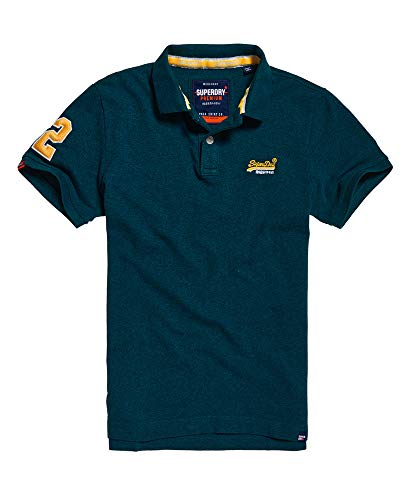 Mens Organic Pique Polo - Superdry Classic Pique Polo Shirt