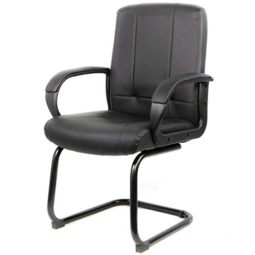 Office Decor Waiting Room Reception Area Executive Guest Visitor Office Star Guest Chair Sports Leatherette Upholstery Neat and Professional. ()