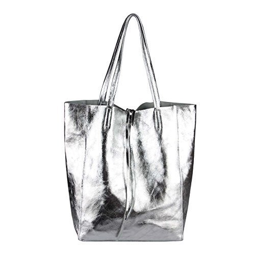 OBC Only-Beautiful-Couture, Borsa a mano donna Rosa Rosa-schlange ca.: 38x36x9 cm (BxHxT) ARGENTO 36X40X12 cm