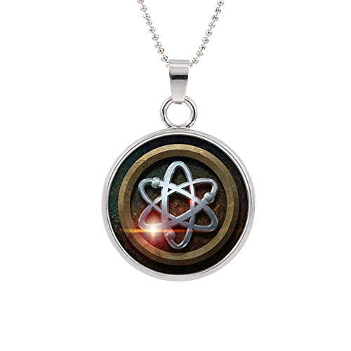 Legends of Tomorrow Atom Pendant Necklace DC Comics Movies Cartoons Superhero Logo JLA Theme Premium Quality Detailed Cosplay Jewelry Gift Series