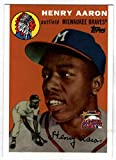 2000 Topps Hank Aaron Fanfest 1954 Rookie Reprint
