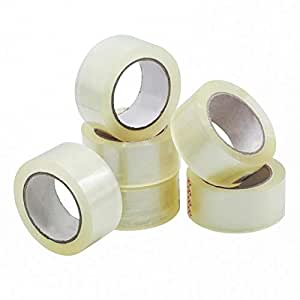 Packing Tape - Clear, 6 Rolls (60m Long Each), Thick and Strong