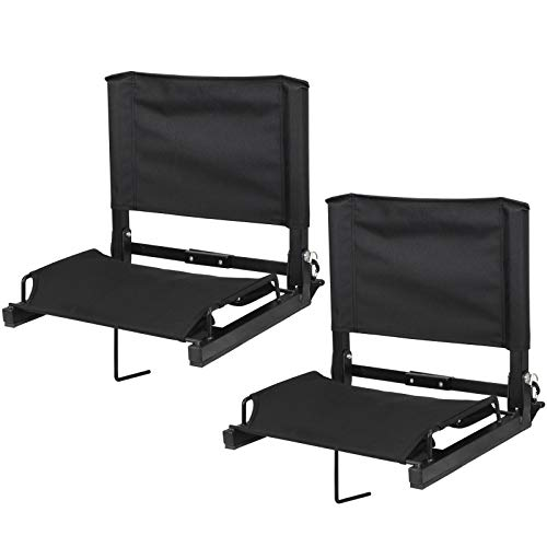 ZENY Folding Stadium Seat Chair for Bleachers Delux Wide Bleacher Seat with Portable Shoulder Straps - Portable Bleacher System