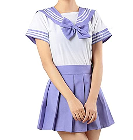 WenHong Japan School Uniform Dress Cosplay Costume Anime Girl Lady Lolita (Simulators For Women)
