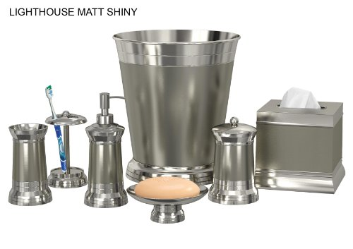 nu steel Lighthouse Matt Shiny 8-Piece Bath Accessories Set by nu steel