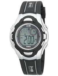 Timex Men's T5H091 Black Polyurethane Quartz Watch with Green Dial