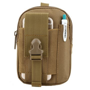 Waist Fanny Pack Belt Bag Camping Hiking Phone Pouch Khaki - 8