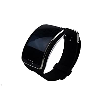 TenCloud Replacement Silicone Sport Band for Samsung Galaxy Gear S SM-R750 Smartwatch Black