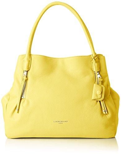 Liebeskind Berlin Women's Sierra Oversized Leather Satchel, Lime Zest Overnighter Bag Handbags