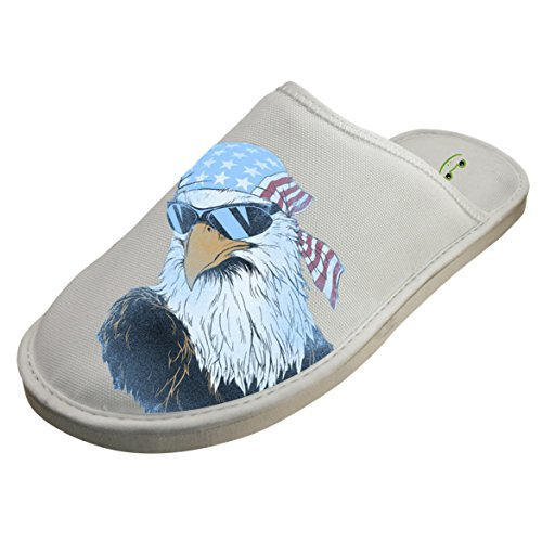 Cotton Patriotic Eagle House Slippers Babouches Baboosh Chinela Slipper by 4B854DF6B