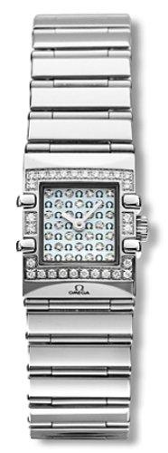 Omega Women's 1539.77.00 Constellation Quadra Quartz Mini Diamond Watch