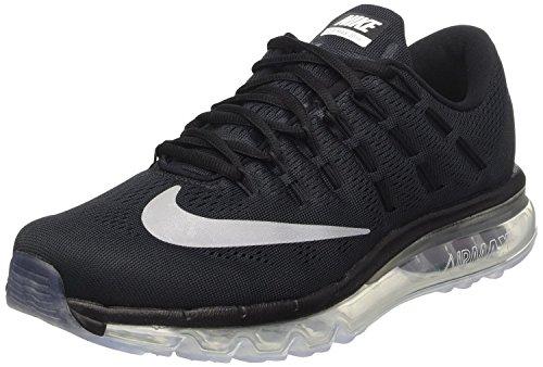 Zapatillas Para Correr Nike Air Max 2016 Sz 6 Negras Nuevo En Caja