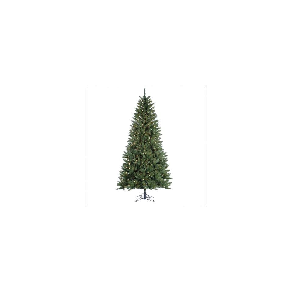 7.5 or 9 Prelit Andover Spruce Artificial Christmas Tree with Clear Lights Size 7.5