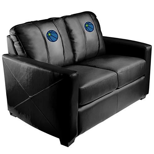 Minnesota Timberwolves NBA Silver Love Seat with Secondary Logo Panel
