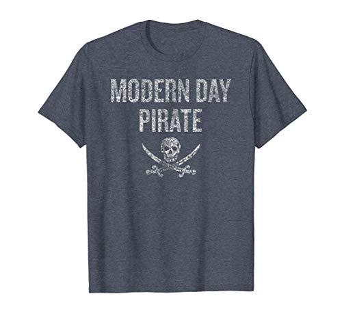 Mens Modern Day Pirate Shirt Amputee Shirt -
