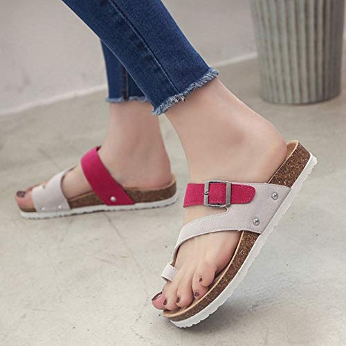 Donna On Zanpa Rose Casuale Spiaggia Slip Sandali Bvavwx
