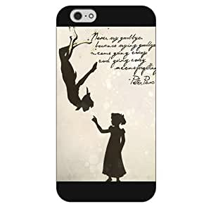 Customized Black Frosted Disney Cartoon Peter Pan iPhone 6 Plus Case, Only fit iPhone 6+ 5.5""
