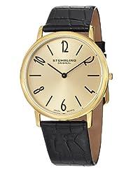 Stuhrling Original Men's 140.333531 Classic Ascot II Swiss Quartz Slim Gold Tone Watch