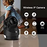 Security Camera Great Promotion Crazy Deal, JOOAN 1080P Wireless Security Camera 2MP HD WiFi IP Home Surveillance Security System for Pet Baby monitor with Two Way Audio Night Vision Motion Detection( Broad Field of View Dome Camera)-Black