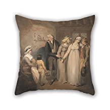 KooNicee oil painting Francis Wheatley - Olivia Returns to Her Family throw pillow covers 20 x 20 inches / 50 by 50 cm gift or decor for bf,lounge,birthday,kids room,lover,boy friend - twice sides