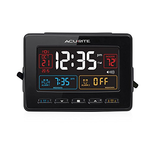 AcuRite 13024 Atomic Dual Alarm Clock with USB Charging