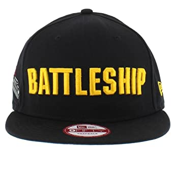 b00c490098e3c Image Unavailable. Image not available for. Color  New Era Battleship  Boardgame Wordmark Logo 9Fifty Adjustable Snapback Cap ...