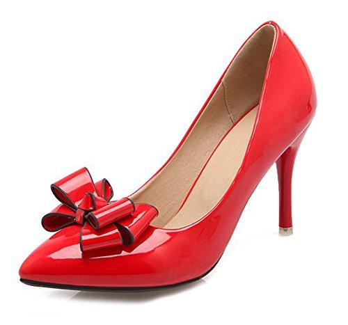 Rouge Chaussures Femme Aisun De Original Noeud Escarpins Mariage 7v84q0Zwxp