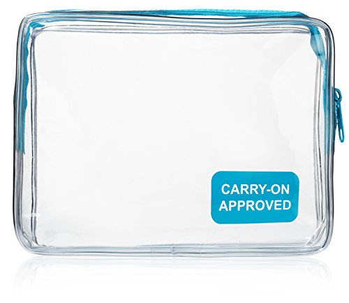 Kings Essential Clear Carry On Travel Toiletry Bag | Quart Sized