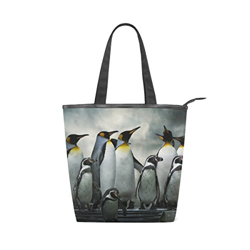 Tote Womens Bag MyDaily Canvas MyDaily Shoulder Animals Tote Canvas Penguins Handbag txwqUqOBz