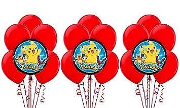 Amazon.com: Globo de Pokemon Kit de decoración ramo ...