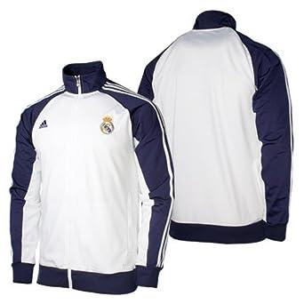 adidas - Chaqueta de deporte, diseño del Real Madrid blanco ...