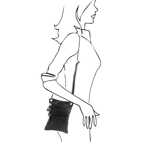 TUSCANY LEATHER, Borsa a spalla donna marrone marrone Taille Unique