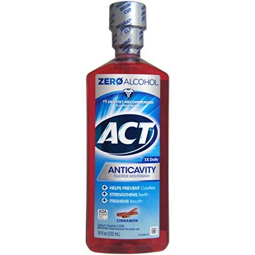 ACT Anticavity Fluoride Rinse Cinnamon 18 oz (Pack of 6)