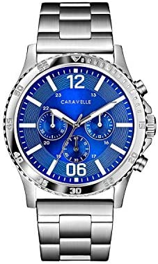 Caravelle Designed by Bulova Men s Quartz Watch with Stainless-Steel Strap, Silver, 24 Model 43A145