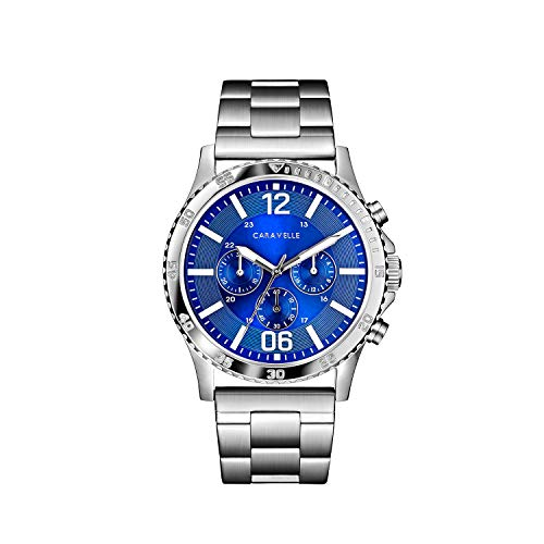 Caravelle Men's Quartz Stainless Steel Watch, Color:Silver-Toned (Model: ()