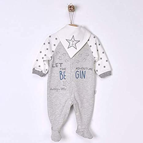 845d7eac2a451 Sevira Kids - Dors-bien pyjama bébé en coton bio avec bavoir bandana - Begin
