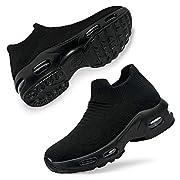 #LightningDeal Alibress Women Slip on Walking Shoes - Mesh Air Cushion Platform Fashion Casual Loafers Sock Sneakers