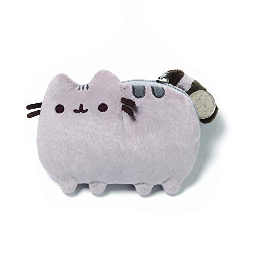 GUND Pusheen Cat Plush Stuffed Animal Coin Purse, Gray, 5