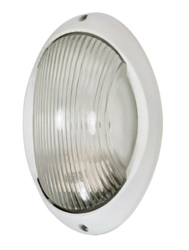 Nuvo Lighting 60/526 One Light Bulk (Large White Oval Exterior Light)
