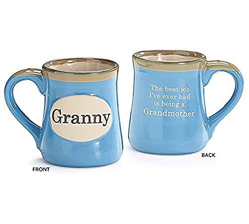 - Granny Hand-painted Porcelain 18oz Coffee Mug