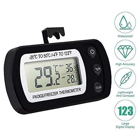 Compra SODIAL TermóMetro Digital para Refrigerador, TermóMetro ...