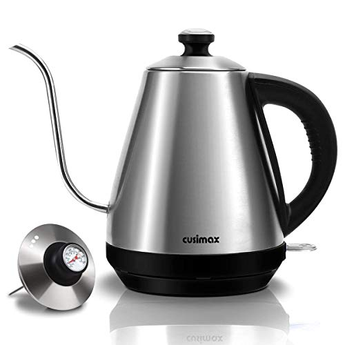 Electric Gooseneck Kettle with Thermometer for Exact Tempera