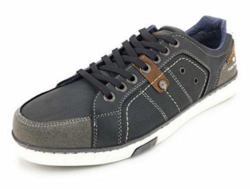 TOM TAILOR sportliche Herren Synthetik Sneakers coal, TOM-TAILOR Laufsohle, 2138131/40 Grau