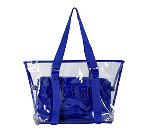 YJYdada Fashion Women Clear Beach Bag Waterproof Bag Shoulder Bag Handbag Messenger Bag (Blue) (Hobo Alligator Embossed Handbag)