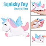 Slow Rising Squeeze Kid Toy, OCEAN Kawaii Unicorn Squishy Slow Rising Cartoon Doll Cream Scented Decompression Toys (White)